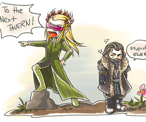 lord of the rings, thranduil, and the hobbit image