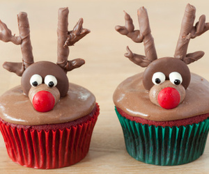 animal, christmas, and cupcake image