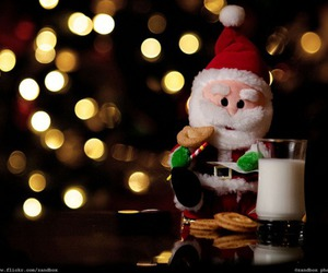 christmas, lights, and santa image