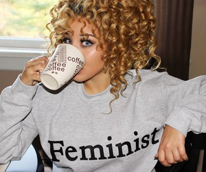 feminist, curly hair, and jadahdoll image
