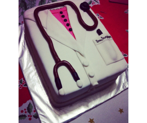cake, doctor, and fondant image