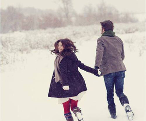 love, couple, and winter image
