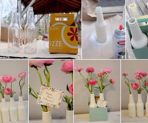 vase and diy flower vase image