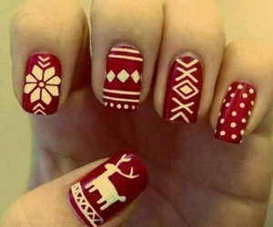 nails, christmas, and red image