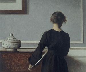 art, painting, and vilhelm hammershoi image