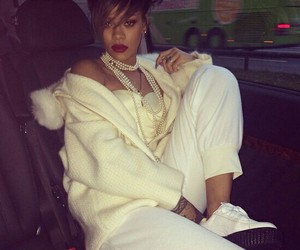 rihanna, puma, and white image