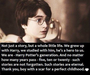 harry potter and childhood image