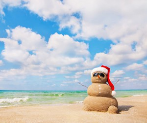christmas and beach image