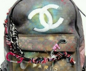 chanel, bag, and backpack image