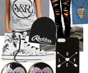 and, clothes, and converse image