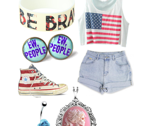 be brave, belly button ring, and converse image