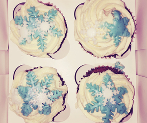 blue, winter, and cupcakes image