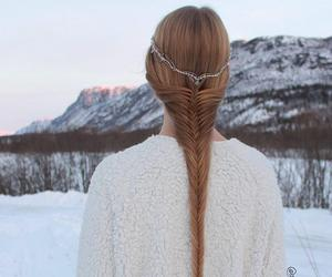 hair and snow image