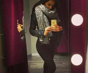 black and scarf image