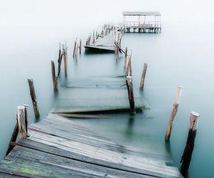 water, bridge, and sea image