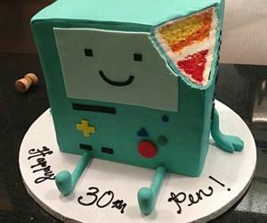 cake, adventure time, and bmo image