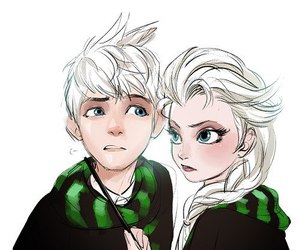 frozen, jack frost, and slytherin image