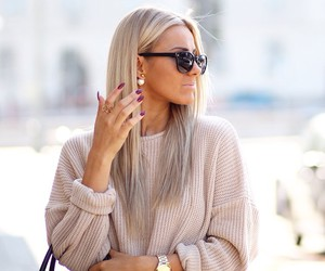 fashion, beige, and blonde image
