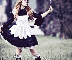 alice in wonderland, dress, and lolita image