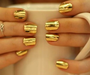coffee cup, gold, and rings image