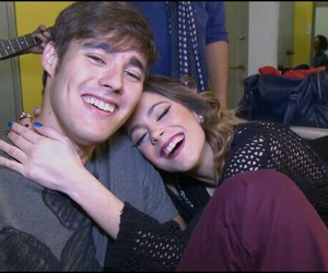 jorge blanco, jortini, and martina stoessel image