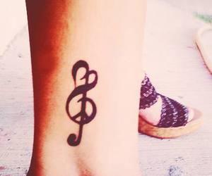tattoo, music, and love image