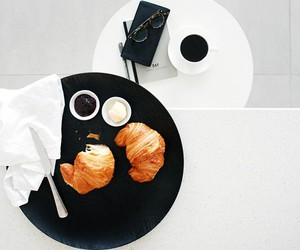 breakfast, coffee, and white image