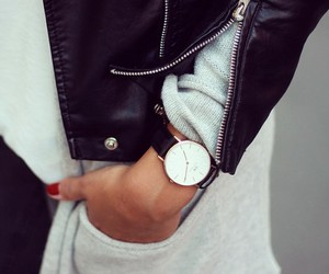 outfit, jacket, and nails image