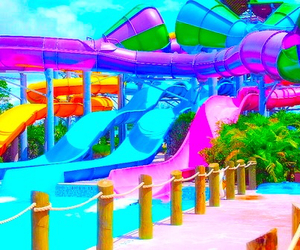 summer, water, and slide image