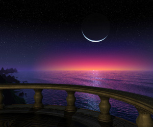 moon, night, and perfect image