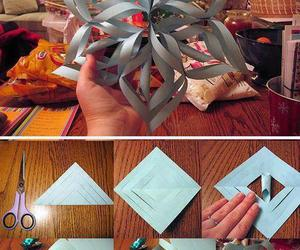 diy, Paper, and snowflake image