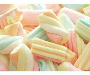 dessert, cute, and marshmellows image