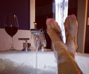 bath, wine, and relax image