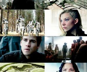 katniss, mockinjay, and gale image
