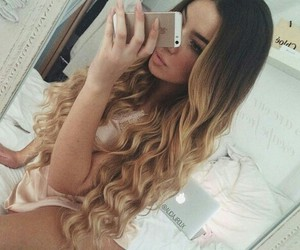 blonde, girly, and wavy image