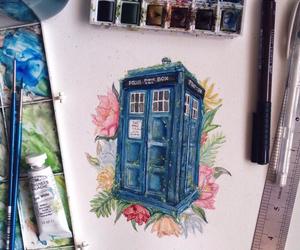 tardis, art, and doctor who image
