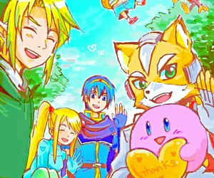 fox, kirby, and link image
