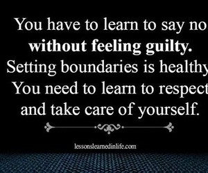 guilt, self respect, and self care image