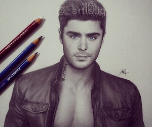 zac efron and drawing image
