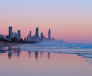 city, australia, and sunset image