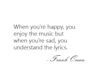 music, quote, and sad image