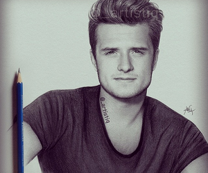 josh hutcherson, peeta, and drawing image