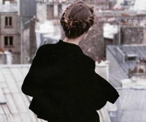 girl, vintage, and black image