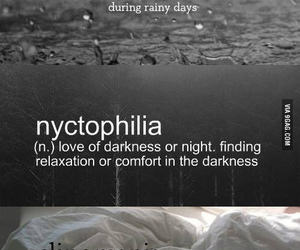 rain, bed, and dark image