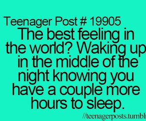 teenager post and sleep image