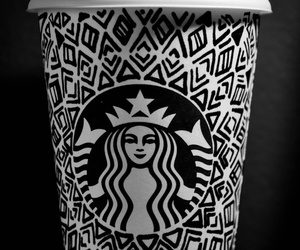 starbucks, coffee, and black and white image
