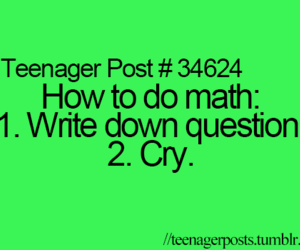 math, cry, and funny image
