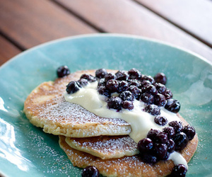 blueberries, blueberry, and cream image