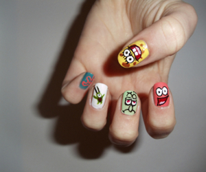 nails and spongebob image