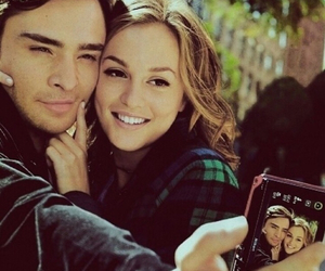 boy, chuck and blair, and heart image